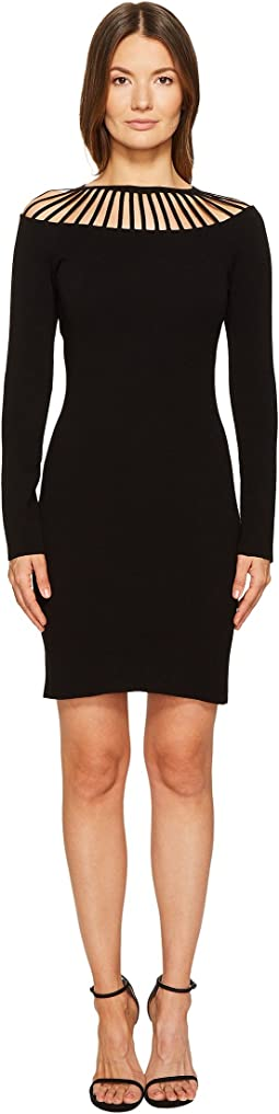 Boutique Moschino - Long Sleeve Cut Out Neck Dress