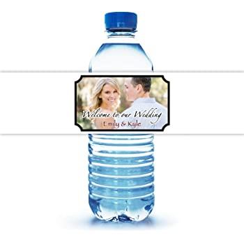 Amazon Com 100 Personalized Water Bottle Labels For Wedding 8 X2