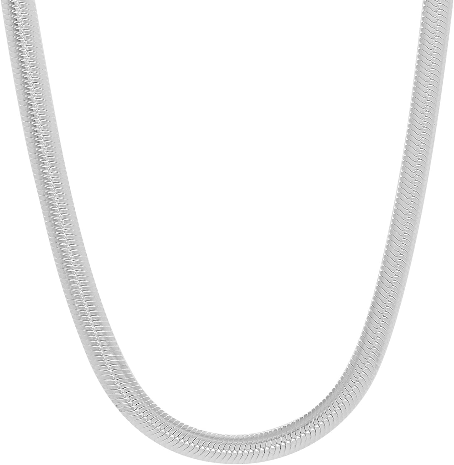 Men's 4.6mm Solid .925 Seasonal Wrap Introduction Sterling Bombing new work Ne Chain Herringbone Flat Silver
