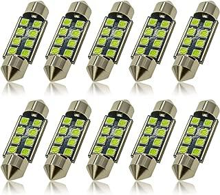 DODOFUN 36MM Festoon 6418 DE3423 DE3425 Ice Blue Color Extra Bright LED Bulbs for Car Interior Lights License Plate Map Dome Trunk Door Courtesy Light 8-SMD Chipset Canbus Error Free