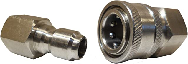 Ultimate Washer 18709 3/8-Inch Stainless Steel Quick Connect Pressure Washer Adapter Set,..