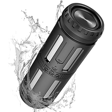 MuGo Bluetooth Speaker, 20W Portable Speaker with Rich Bass, Waterproof Bluetooth Speakers with 5200mAh Power Bank, Dual-Driver, Built-in Mic, Dustproof, Shockproof, 24 Hrs for Home Outdoor, 33 Feet