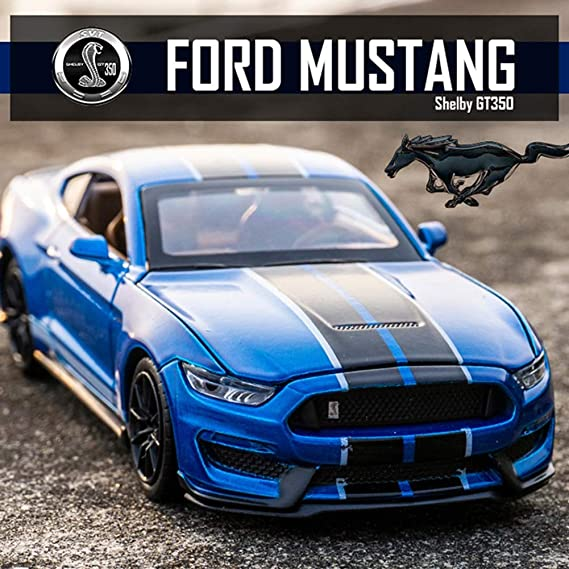 1//32 Ford Mustang Shelby GT350 Diecast Model Toys Car Boys Girls Kids Gifts