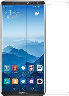 واقي شاشة Huawei Mate 10 Pro من الزجاج المقوى [عبوة من قطعتين] حواف مستديرة عالية الوضوح 9H مضاد لبصمات الأصابع