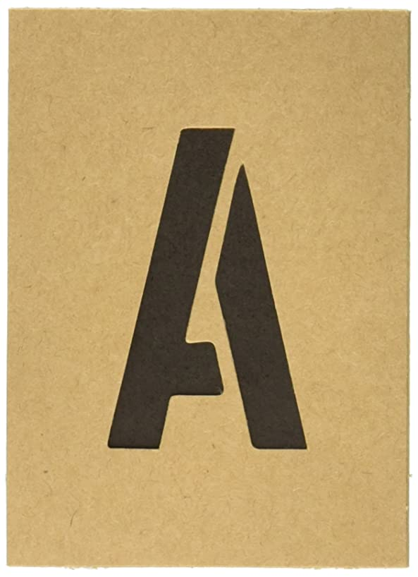 Hy-Ko ST-2 Number & Letter STENCILS, 2 INCH, TAN