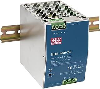 MEAN WELL Industrial DIN Rail Power Supply with PFC, 48 Volt 10 Amp 480 Watt - NDR-480-48