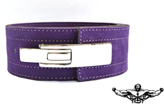 Quest Athletics Powerlifting Belt with Lever Buckle (Purple) - 10mm Weightlifting Crossfit Strongman Lifting Belt