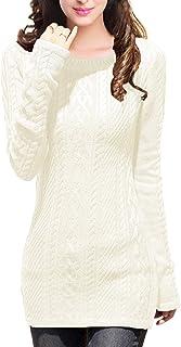 v28 Women Boat Neck Knit Elasticity Stretchable Long Sleeve Slim Sweater Jumper