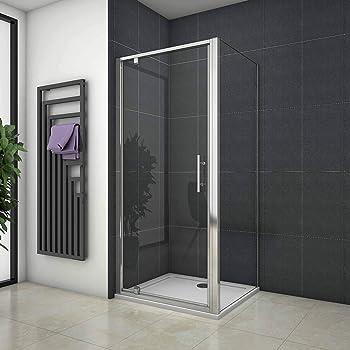 Mampara de ducha Angular Apertura de Puerta Plegable Antical 100x90cm: Amazon.es: Bricolaje y herramientas