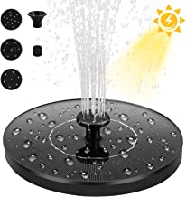 Dustgo bomba de agua solar, bomba de fuente solar, panel solar flotante (con 4 boquillas), utilizado para fuente, piscina, jardín, estanque, decoración de jardín