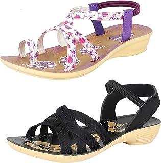WORLD WEAR FOOTWEAR Women's Multicolor (981-983) Casual Sandal