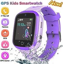 Kids Smart Watch for Boys Smartwatch WiFi/GPS Tracker Watch, Kids GPS Tracker Watch Activity Tracker Digital Watch, Touch Screen HD Camera Pedometer SOS Math Game Watch for Boys Girls Gift