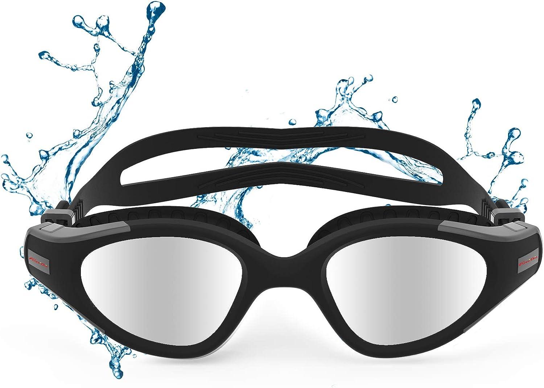 Funní Día Gafas de natación, antiempañamiento, protección UV, Gafas Natacion para adultos, hombre, mujer, jóvenes, adolescentes