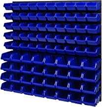 Stapelboxen wandrek 772 x 780 mm - opslagsysteem opbergbakken lade plank - wandplaten 82 stuks blauwe dozen