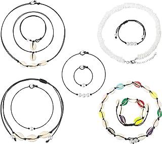 Jade Cloud Natural Shell Choker Necklace for Women Teen Girls Men and Boys, Handmade Puka Seashell Choker Neckace Bracelet...