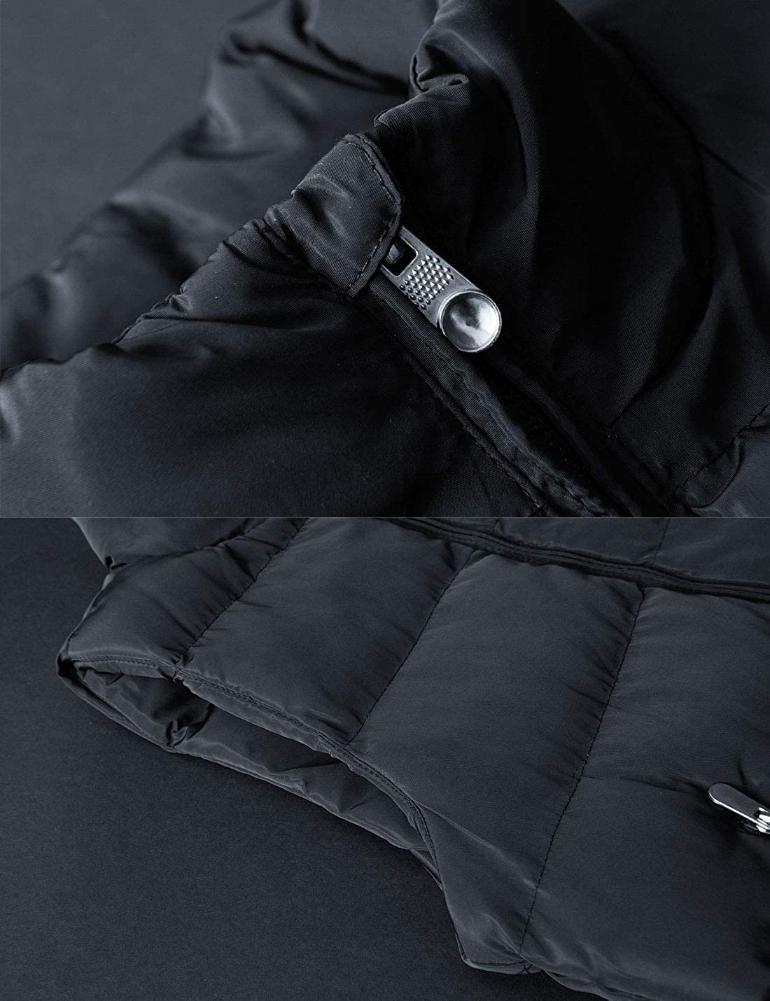 Flygo Men's Casual Winter Warm Outdoor Padded Puffer Vest Quilted Coat Jacket