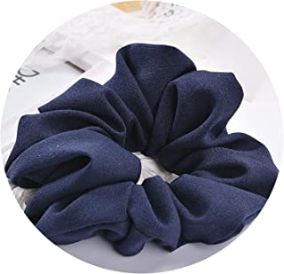 Women Hair Accesorios Female Hair Tie Ponytail Headwear,Deep Blue,One Size