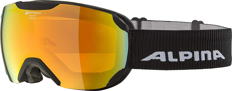 ALPINA Unisex– Erwachsene Pheos S Qmm Skibrille
