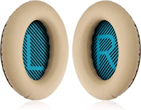 YOCOWOCO Cushions Bose Replacement Ear Pads Kit- Ear Cups for QuietComfort 2 15 25 35 QC2 QC15 QC25 QC35, AE2,AE2i, AE2w, SoundTrue, SoundLink(Around-Ear) Headphones, Khaki
