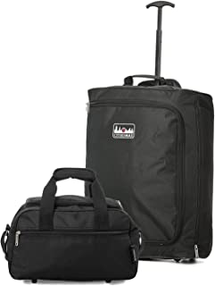 Ryanair Sac Set-Pliant Valise trolley /& 40x20x25 Max taille cabine Holdall Set