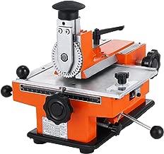 BestEquip Semi-Automatic Metal Stamping Printer Sheet Embosser Metal Embosser Suitable for Copper Aluminum Stainless Steel and Plastic