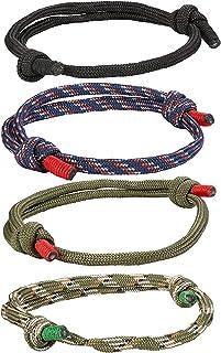 LLXXYY Bracelet Tress/é pour Les Femmes,Vintage Bracelet Corde Tress/ée Cuir Tress/é en Acier Inoxydable davion Charm Bangle pour Hommes Femmes Fille Cadeau De No/ël Bijoux