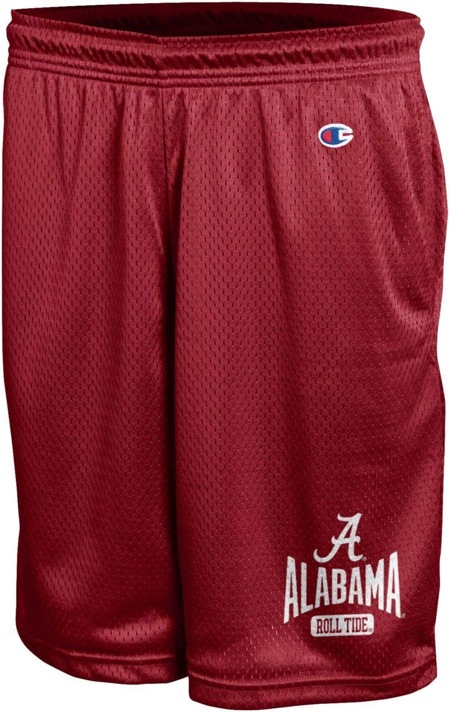 Champion NCAA Mens Mesh Basketball Shorts Team Colors Workout Shorts