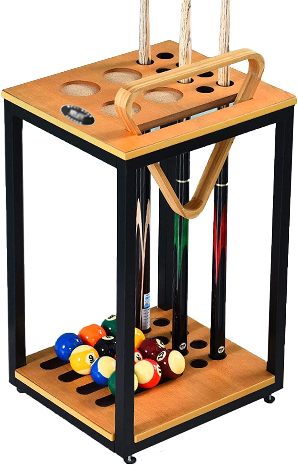 LLFF Small Pool Outstanding Cue Rack Floor Cues Holds 5 ☆ very popular Wooden Standing 8 Mo