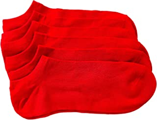 Unisex Low Cut Ankle Sock Bamboo Cotton Sock Quarter Crew Athletic Sock 5 Pairs M 7-11 F 8-12