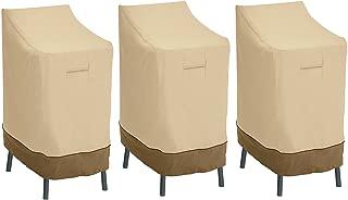 Classic Accessories Veranda Patio Bar Chair/Stool Cover (3-Pack)