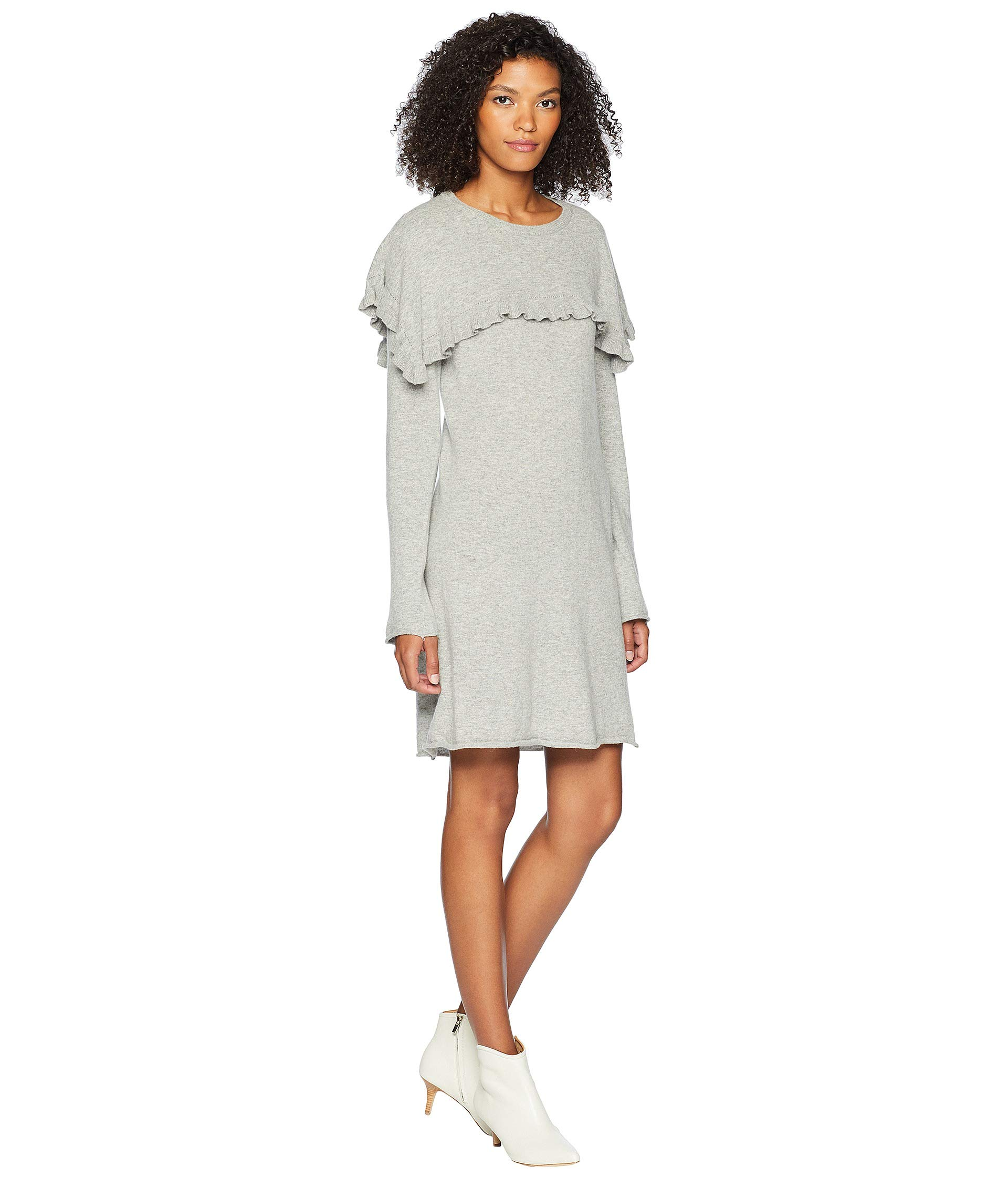Cape Chloe Grey With Drizzle See Dress By Sweater 76WnaPq