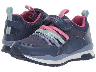 Geox Kids Jr Pavel 6 (Toddler) (Navy/Pink) Girls Shoes