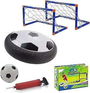 Hover Soccer Ball Set Smart Indoor Toy for Boys Kids.2 Goals,Foam Bumper,LED,Bonus Ball and pump