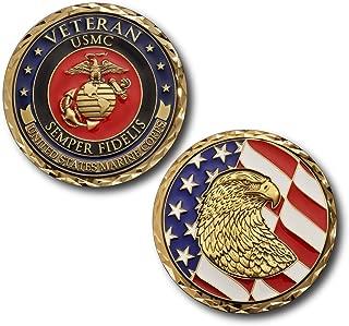 Armed Forces Depot USMC U.S. Marine Corps Veteran Challenge Coin