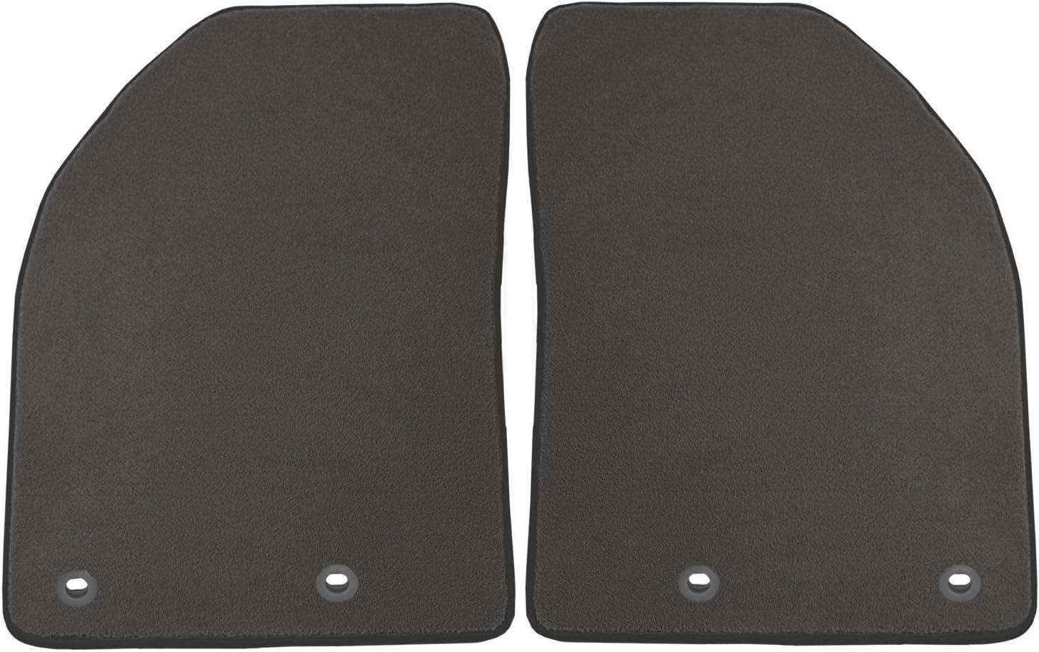 Nylon Carpet Black Coverking Custom Fit Front Floor Mats for Select Jaguar XK Series Models
