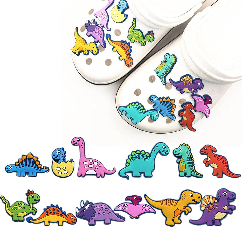 12pcs Dinosaur Shoe Easy-to-use Charms Decoration PVC Dino Novel Max 47% OFF