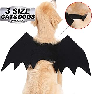 GreaSmart Halloween Spider Skeleton Bat Wings Costume for Pets Dogs Cats Skull Ghost Puppy Animal Cosplay Apparel Clothes Pets Dress up Hoodie Coat