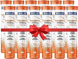 Bioglan Vitamin C 1000mg + Zinc 10mg Triple Action Refreshing Orange Flavored 20 Effervescent Tablets, Pack of 12