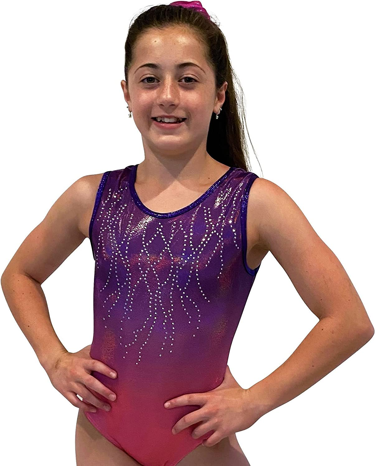 LIL'FOX Gymnastics New color Leotards for Girls SHINY - OMBRE GALAXY Ranking TOP19 FOIL