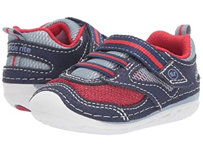 Stride Rite SM Adrian (Infant/Toddler) (Navy/Red) Boys Shoes