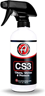 Adam�s CS3 Clean, Shine, Protect   Ultimate Top Coat Waterless Wash & Wax Ceramic Spray Coating   All-in-One Cleaner, Polish, Hydrophobic Polymer Paint Sealant Protection (12oz) (12oz)