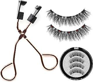 Dreamseeker A Pair of 5 Magnetic Black Eyelashes Thick Magnetic False Eyelashes + Quantum Magnetic Eyelash Curler