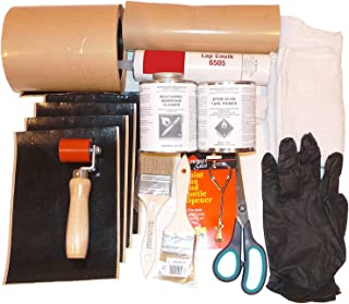 Rubber Roof Repair Kit (EPDM): Tools + Cleaner + Primer + Flashing Tape - Everything You Need to Fix Rubber Roof