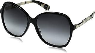 Kate Spade Women's Jolyn JOLYNS Square Sunglasses, Black Gold/Gray Gradient, 58 mm