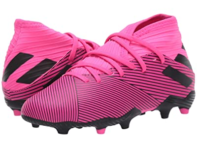 adidas Kids Nemeziz 19.3 FG Soccer (Little Kid/Big Kid) (Shock Pink/Black) Kid