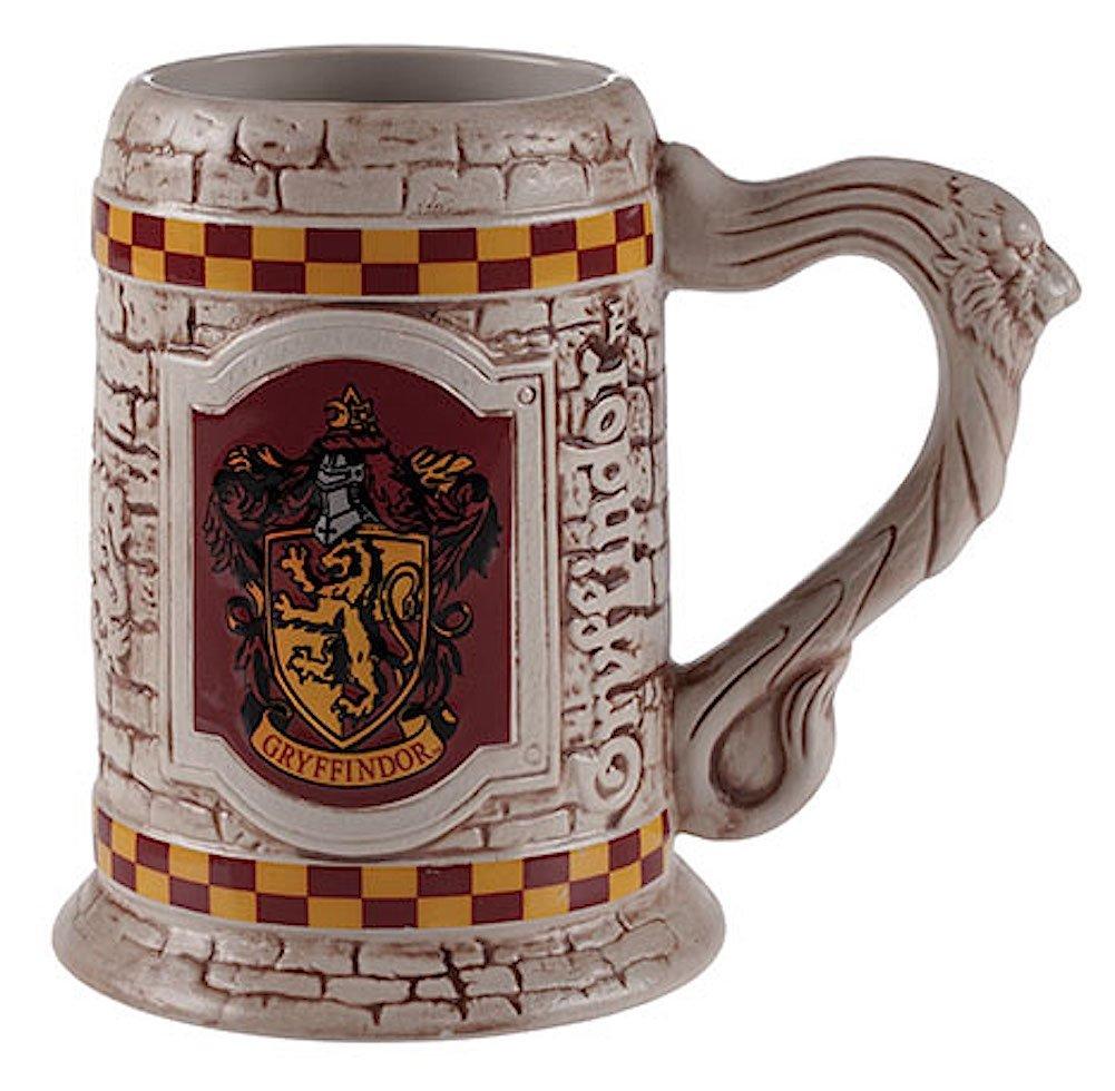 Wizarding World of Harry Potter : Sculpted Ceramic Gryffindor Stein Mug Cup