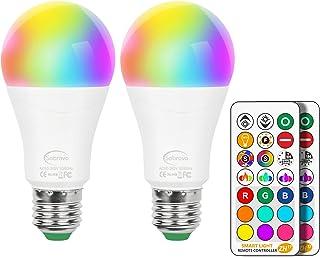 LED電球 E26口金 調光調色可能 電球色 リモコン操作 75W相当 長寿命 広配光タイプ 省エネ 記憶機能 タイミング機能 900ルーメン E27口金 高輝度 2個セット(リモコン付き)