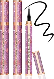 2 PCS Waterproof Liquid Eyeliner,Long Lasting Eye Liner,Waterproof Formula,Eyeliner Pen Gel for All Day with Slim Tip