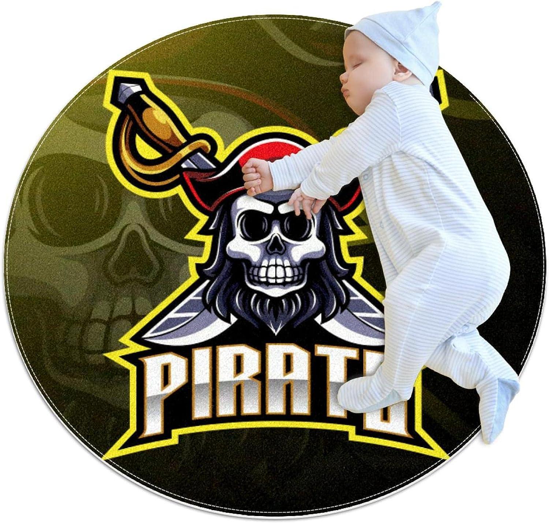 Pirates Mascot Trust Kids Nursery Rug Play Round Mat mart Carpet Design To