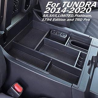 EDBETOS Center Console Tray Organizer Glove Box Fits for 2014-2019 Toyota Tundra, Armrest Secondary Storage Box Tundra Acc...